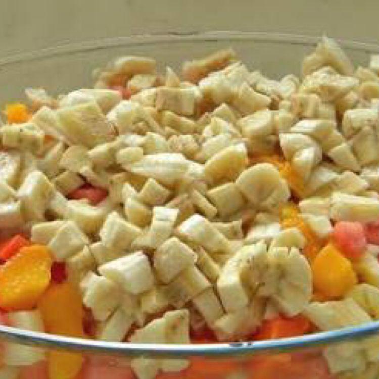 Salada de frutas zero lactose